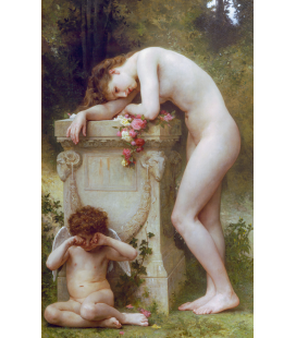 William Adolphe Bouguereau - Elegy. Printing on canvas