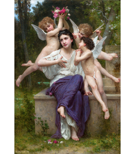 William Adolphe Bouguereau - Un sogno di primavera. Stampa su tela