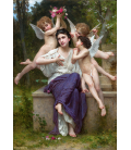 William Adolphe Bouguereau - A Dream of Spring. Printing on canvas