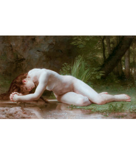 William Adolphe Bouguereau - Reflection in a pond by Ein Gedi. Printing on canvas