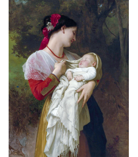 William Adolphe Bouguereau - Maternal Admiration. Printing on canvas