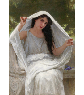 William Adolphe Bouguereau - The Veil. Printing on canvas