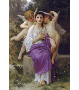 William Adolphe Bouguereau - Risveglio del cuore. Stampa su tela