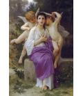William Adolphe Bouguereau - L'éveil du coeur. Printing on canvas
