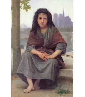 William Adolphe Bouguereau - Il boemo. Stampa su tela