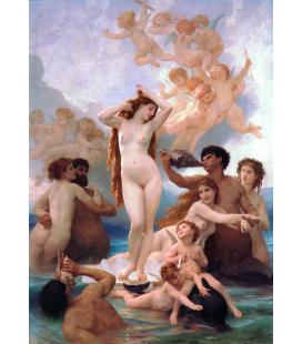 William Adolphe Bouguereau - La nascita di Venere. Stampa su tela