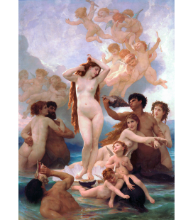 William Adolphe Bouguereau - The Birth of Venus. Printing on canvas
