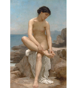William Adolphe Bouguereau - The Bather. Printing on canvas