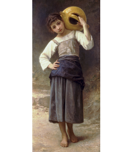 William Adolphe Bouguereau - Ragazza che va in primavera. Stampa su tela