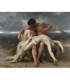 William Adolphe Bouguereau - The First Game. Printing on canvas