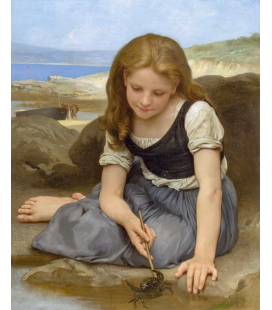 William Adolphe Bouguereau - Le Crabe. Printing on canvas