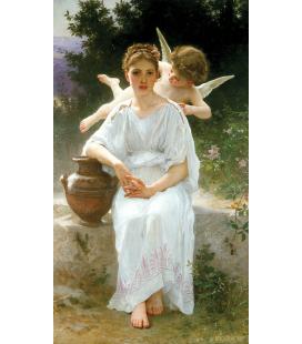 William Adolphe Bouguereau - Sussurri d'amore. Stampa su tela