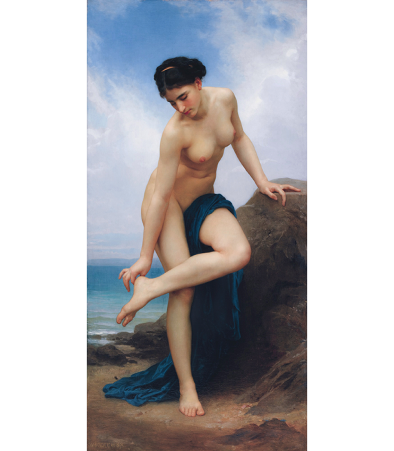 William Adolphe Bouguereau - After the Bath. Printing on canvas