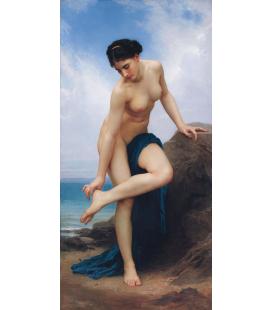 William Adolphe Bouguereau - Dopo il bagno. Stampa su tela