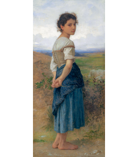 William Adolphe Bouguereau - La giovane pastorella. Stampa su tela