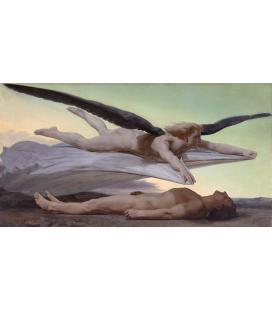 William Adolphe Bouguereau - L'uguaglianza prima della morte. Stampa su tela