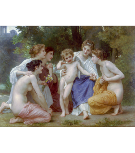 William Adolphe Bouguereau - Admiration. Printing on canvas