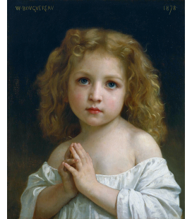 William Adolphe Bouguereau - Bambina. Stampa su tela
