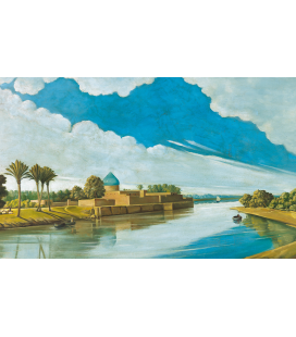 Abdul Qadir al-Rassam - Scene di fiume sulle rive del Tigri. Stampa su tela