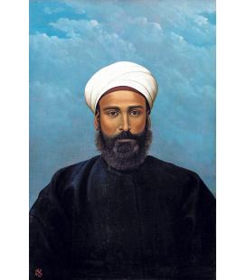 Abdul Qadir al-Rassam - Ritratto di Mohamed Darouich al Allousi. Stampa su tela