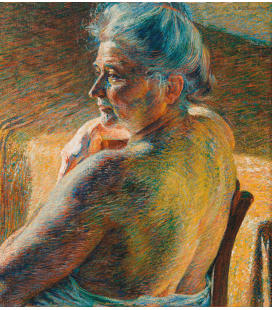 Boccioni Umberto - Nudo di spalle (controluce). Stampa su tela
