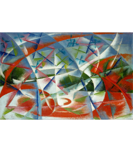 Balla Giacomo - Abstract Speed + Sound. Printing on canvas