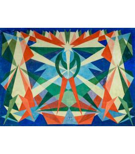 Balla Giacomo - The futurist genius. Printing on canvas