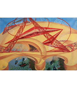 Balla Giacomo - Bridge of Speed. Printing on canvas