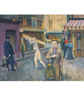 Balthus - La strada. Stampa su tela