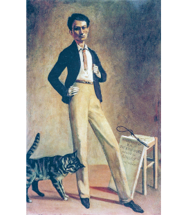 Balthus - King of cats. Printing on canvas