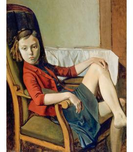 Balthus - Thérèse. Printing on canvas