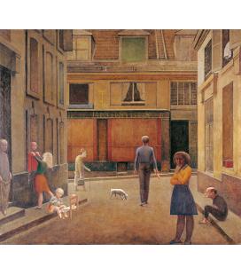 Balthus - Passaggio commerciale Saint-André. Stampa su tela