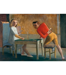 Balthus - The Card Game. Printing on canvas