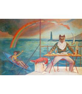 Balthus - Il Gatto e il Mediterraneo. Stampa su tela