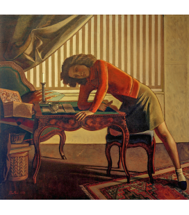 Balthus - La Patience (Solitaire). Printing on canvas
