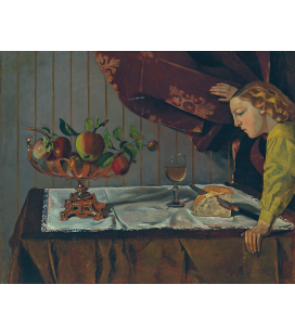 Balthus - Still Life with a Figure. Printing on canvas