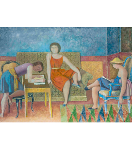 Balthus - The three sisters. Printing on canvas