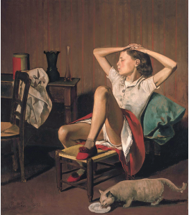 Balthus - Thérèse Dreaming. Printing on canvas