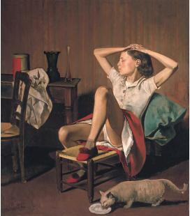 Balthus - Thérèse sognando. Stampa su tela