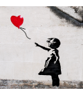 Banksy - Hope. Print on canvas