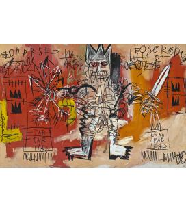 Jean Michel Basquiat - Senza titolo. Stampa su tela