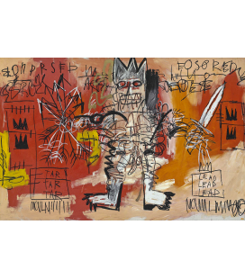 Jean-Michel Basquiat - Untitled. Printing on canvas