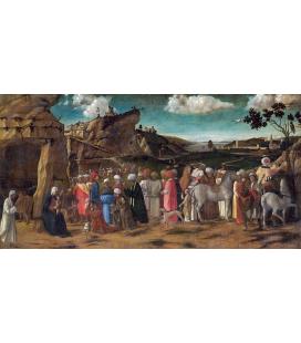 Giovanni Bellini - L'adorazione del Re. Stampa su tela