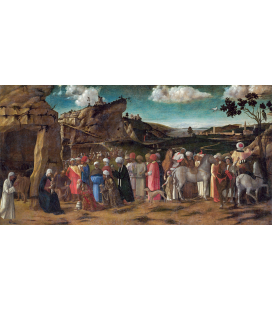 Giovanni Bellini - The adoration of the King. Print on canvas