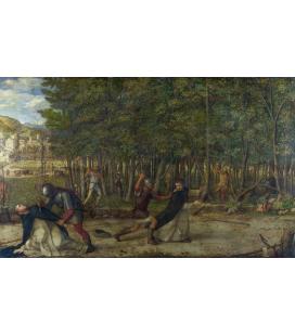 Giovanni Bellini - L'assassinio di San Pietro Martire. Stampa su tela