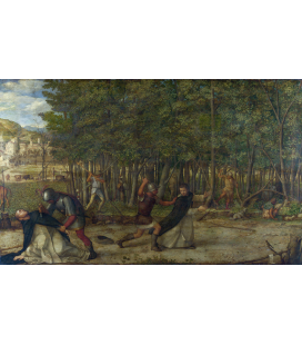 Giovanni Bellini - The Assassination of Saint Peter Martyr. Print on canvas