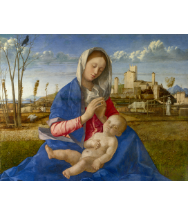 Giovanni Bellini - Madonna of the Meadow. Print on canvas