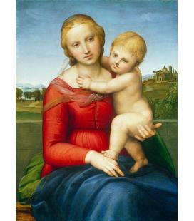 Stampa su tela: Raffaello Sanzio - Madonna con Bambino
