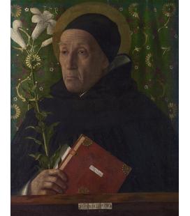 Giovanni Bellini - San Domenico. Stampa su tela
