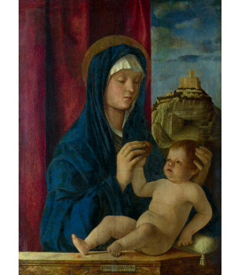 Giovanni Bellini - The Virgin and Child. Print on canvas